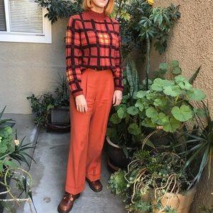 New vintage rusty orange Chadwick's wool trousers